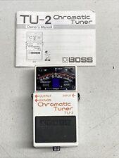 Boss TU-2 Chromatic Stage Tuner Guitar Effect Pedal TU2 TU 2 Excellent Condition