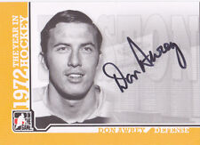 09-10 ITG Don Awrey Auto 1972 The Year In Hockey Bruins 2009