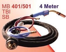 Schweißbrenner MB 501 Brenner 550A Wassergekühlt Schlauchpaket  4m MIG MAG