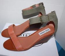New Steve Madden Women's Darcie Low Heel Sandal NaNNCY kHAKI Mult Sz 7
