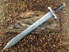 Custom Handmade Damascus Steel 29 inches Beautiful Double Edge Sword With Sheath