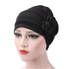 Women Flower Cancer Chemo Cap Hair Loss Ruffle Scarf Turban Head Wrap Cover Hat