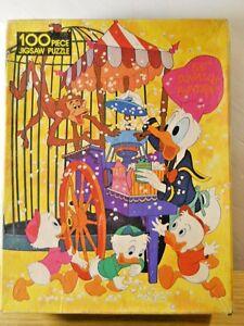 Complete 1976 Whitman Disney Huey Dewey Louie Donald Duck 100 Pc Puzzle Monkey
