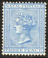 South Africa Natal 1882 blue 3d crown CA mint SG100