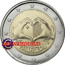 2 Euro Commémorative Malte 2016 BU Solidarité et Amour avec Poinçon Cornucopia