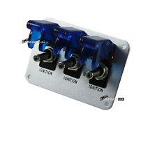 CAR BOAT Toggle Switch - BLUE LED FOR Nitrous  PANEL 3 blue led
