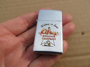 "Vintage 1959 Zippo Slim Kilroy Drilling Company ""Kilroy is Here"" Texas Oil Gas"