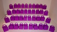 SHOPKINS SHOPPING BAGS TOTES LOT OF 40 PURPLE EMPTY