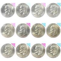 BU IKE dollar set 1973-1978 P D Eisenhower US Mint Cello Run Lot 12 Coin Set
