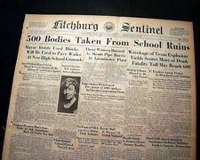 NEW LONDON SCHOOL Rusk County Texas TX Natural Gas EXPLOSION 1937 Old Newspaper
