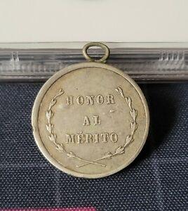 Guatemala 1906 Silver Medal + VF Honor al Merito