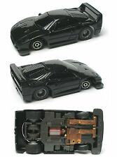1992 TYCO TCR Wide Pan FERRARI BASIC BLACK F-40 F40 Slot less Car UNUSED Sharp!