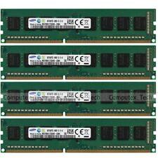 Samsung 16GB (4x4GB) 1Rx8 PC3-14900U DDR3-1866Mhz Low Density Desktop Memory RAM