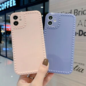 For iPhone 12 11 Pro Max XS XR 8 7 6 Glossy Cute Heart Silicone Soft Case Cover