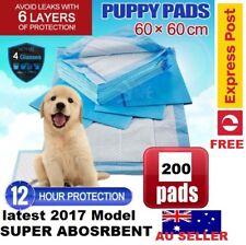 200pcs Pet Dog Indoor Cat Toilet Training Pads Super Absorbent 60x60cm Oz