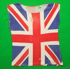 ENGLAND FLAG Vintage T Shirt 70's 80's Union Jack PUNK ROCKER DISTRESSED THRASH