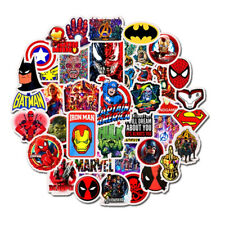 Stickers Cartoon Super Heros Wow Waterproof Laptop Skateboard Guitar Decor 50pcs