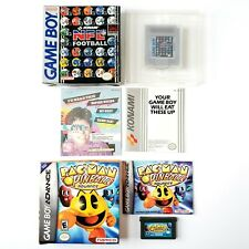NFL Football Game Boy & Pac-Man Pinball Advance GBA Near Complete In Box Tested