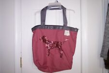 NEW Womens Victoria's Secrets PINK Rose Color with Gray Tote Well Made Quality