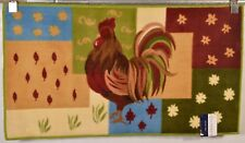 NOURISON  ROOSTER  COLORMATE ACCENT  KITCHEN RUG/MAT 22X40 100% WASHABLE