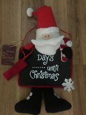 DEBENHAMS SANTA CLAUS COUNTDOWN TO CHRISTMAS BLACKBOARD DOOR HANGER FESTIVE FUN!