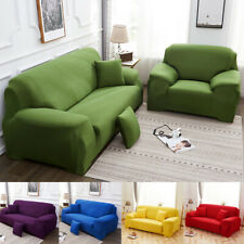 Solid Color Stretch Sofa Cover Stretch Sectional Couch Slipcover 1 2 3 4 Seater