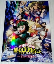 My Hero Academia The Movie Two Heroes Program Book Anime Art Guide