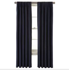 *Royal Velvet Supreme Pinch-Pleat/Back-Tab Lined Curtain Panel 50X84 Dress Blue