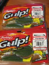 "2 Packs Berkley Gulp Scented Fishing Baits 4"" Ripple Shad Watermelon Chartreuse"
