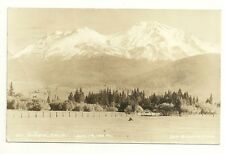 RPPC Mt Shasta California Snow Capped Mountain Postcard Photograph