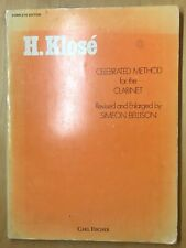 H. Klose Celebrated Method For The Clarinet (1946)