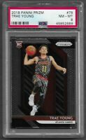 2018-19 Panini Prizm #78 Trae Young RC Rookie PSA 8 Hawks HOT!! $$$