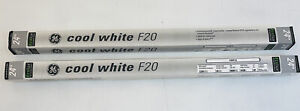"24"" GE  Lighting 80046 20W Cool White F20 Light Bulb Lot Of 2 New Old Stock"