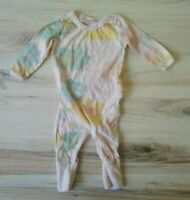 Burts Bees Baby Romper 0-3 Months Ruffle Butt Organic Cotton Watercolor Pink