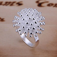HOT 925 sterling Solid silver Plated Fireworks rings Size8 wholesale #170