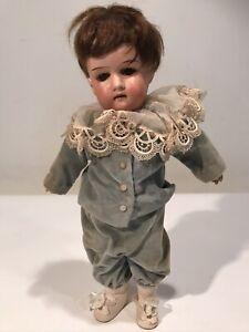 "Antique 13"" German Porcelain & Composition A.  Marseille Floradora Doll Jointed"