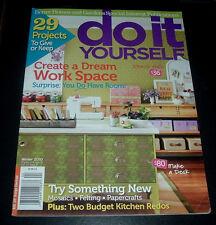 BH&G DO It YOURSELF ~ DIY WINTER 2010 ~ CREATE A DREAM WORK SPACE ~KITCHEN REDO+