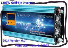 "1200W Grid Tie Inverter 52V-88V DC/230V AC With 3.5""LCD&MPPT For 48V Solar Panel"