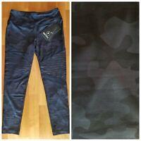 New 90 DEGREE Black & Gray Camouflage Women's M Medium Ankle Yoga Pants $88