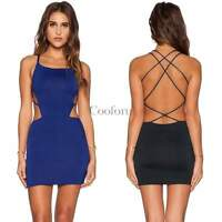 Sexy Women Backless Bodycon Mini Short Dress Cocktail Party Evening XS S M L CO9