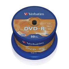 """DVD-R 16x Verbatim 43548 """"Matt Silver Azo"""" Tarrina 50 uds"""