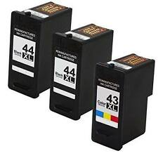 3PK Remanufactured Ink Cartridge For Lexmark 43XL & 44XL 18Y0143 18Y0144
