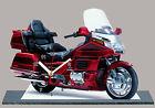 MOTO HONDA GOLDWING ROSSO-05, MODELLINI DI MOTO MINIATURA IN DELL'OROLOGIO