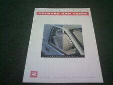 1989 Edition 1 VAUXHALL COLOUR & TRIM CHART BROCHURE Nova Astra Cavalier Senator