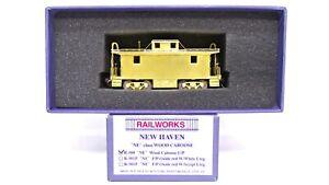 RailWorks HO Brass New Haven NE Class Wood Caboose Train Car R-500 RARE