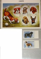 GUINEA 1999 2326-33 1517-19 Dogs Hunde Domestic Animals Fauna Tiere MNH