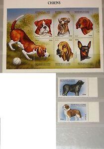 GUINEA 1999 2326-33 1517-19 Dogs Hunde Domestic Animals Fauna Tiere MNH