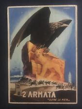 1942 Italy Propaganda postcard cover Army Fieldpost Eagle and Lion 2nd Armata