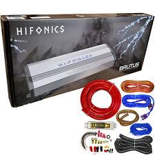 Hifonics BRX3016.1D 3000W Monoblock Super Class D Car Amplifier w/ Wiring Kits
