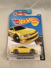Hot Wheels Custom '01 2001 Acura Integra GSR Nightburnerz 9/10 Yellow r3toystore